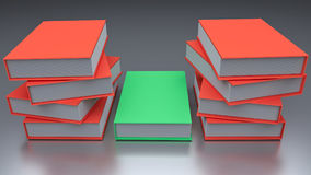 3d rendered books. 3d rendered colorful books Royalty Free Stock Image