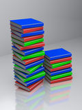 3d rendered books. 3d rendered colorful books placed on a transparent floor Royalty Free Stock Photography