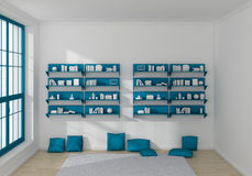 3d rendered bookshelves Stock Image