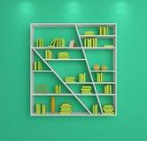 3d rendered bookshelves Stock Photography