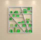 3d rendered bookshelves Royalty Free Stock Photography