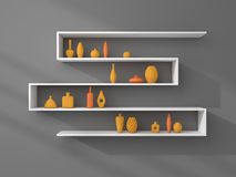 3d rendered bookshelves Royalty Free Stock Photos