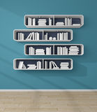 3d rendered bookshelves. Royalty Free Stock Photography
