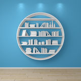 3d rendered bookshelves. Royalty Free Stock Photos
