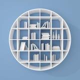 3d rendered bookshelves. Stock Photo