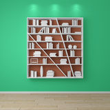 3d rendered bookshelves. Stock Photography