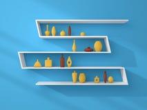 3d rendered bookshelves. Royalty Free Stock Image