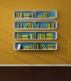 3d rendered bookshelves. Stock Image