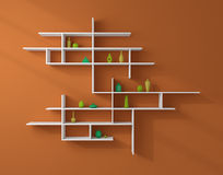 3d rendered bookshelves. Stock Images