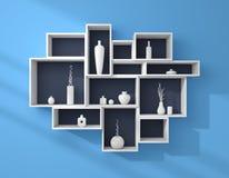 3d rendered bookshelves. Stock Photos