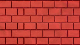 3d rendered bricks. 3d rendered red bricks Wall Royalty Free Stock Image