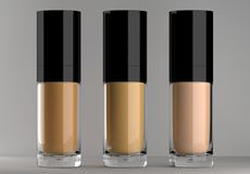 3d rendered brightening and hydrating make up foundation stock images