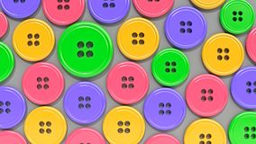 3d rendered buttons. 3d rendered plastic buttons Royalty Free Stock Photos