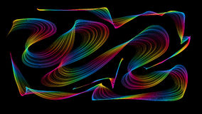 3D rendered colored waves look like smoke Stock Image