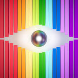 3d rendered, colorful rainbow abstract eye Stock Photos