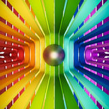 3d rendered, colorful rainbow abstract eye Stock Photography