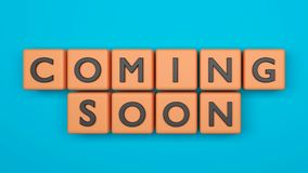 3d rendered coming soon Royalty Free Stock Photos