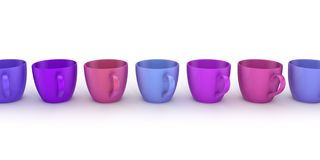 3d rendered cups Royalty Free Stock Image