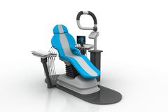 3d rendered dental chair Stock Photos