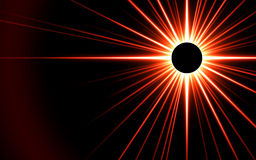 3D rendered eclipsed sun Royalty Free Stock Photo