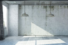 3D rendered empty apartment Royalty Free Stock Photography