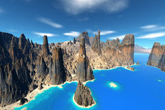 3d rendered fantasy alien planet. Bay Stock Photos