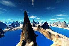 3d rendered fantasy alien planet Royalty Free Stock Image