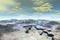 3d rendered fantasy alien planet Royalty Free Stock Photos