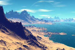3d rendered fantasy alien planet Stock Photography