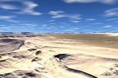 3D rendered fantasy alien planet. Desert Stock Image
