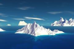 3D rendered fantasy alien planet. Iceberg Royalty Free Stock Photo
