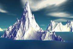 3D rendered fantasy alien planet. Iceberg Stock Photo