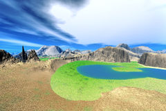 3d rendered fantasy alien planet Stock Images