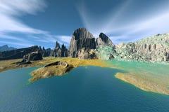 3d rendered fantasy alien planet Stock Photos