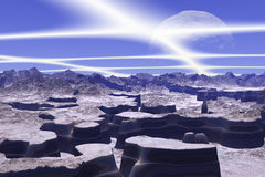 3d rendered fantasy alien planet Royalty Free Stock Images