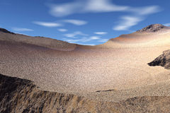 3d rendered fantasy alien planet. Slope of mountain Royalty Free Stock Photos