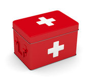 3d rendered first aid kit isolated over white. Background Stock Image