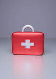 3d rendered first aid kit. 3d rendered plastic first aid bag with cross symbol Royalty Free Stock Photography