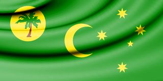 Flag of Cocos Islands. 3d Rendered Flag of Cocos Islands Stock Images