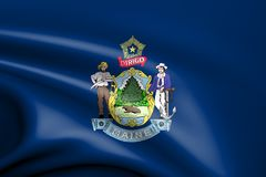 Flag of Maine, USA. 3d rendered flag of Maine, USA Stock Images