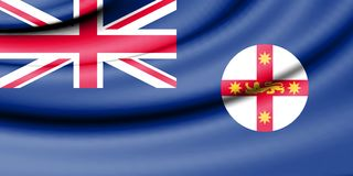 Flag of New South Wales, Australia. 3d Rendered Flag of New South Wales, Australia Royalty Free Stock Photos