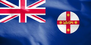 Flag of New South Wales, Australia. 3d Rendered Flag of New South Wales, Australia Stock Photography