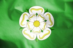 Flag of North Yorkshire, England. 3d Rendered Flag of North Yorkshire, England Royalty Free Stock Images