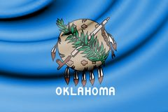 Flag of Oklahoma 1988-2006, USA. 3d Rendered Flag of Oklahoma 1988-2006, USA Royalty Free Stock Images