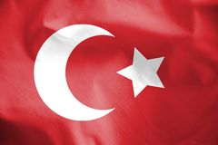 Flag of Ottoman Empire. 3d Rendered Flag of the Ottoman Empire Royalty Free Stock Photo