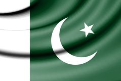 Flag of Pakistan. 3d Rendered Flag of Pakistan Royalty Free Stock Photo