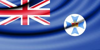 Flag of Queensland, Australia. 3d Rendered Flag of Queensland, Australia Royalty Free Stock Photos
