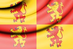 Flag of Sons of Glyndwr. 3d Rendered Flag of Sons of Glyndwr Stock Photography