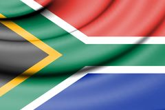 Flag of South Africa. Stock Image