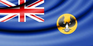 Flag of South Australia. 3d Rendered Flag of South Australia Royalty Free Stock Images